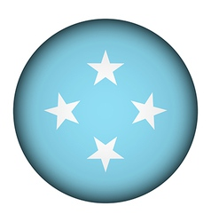 Federated States of Micronesia flag button vector image vector image