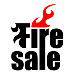 fire sale logo vector image vector image