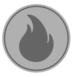 Fire silver coin vector