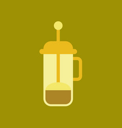 Flat icon on background coffee machine maker vector
