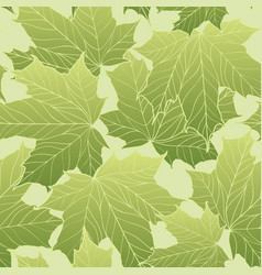 floral seamless pattern leaves background nature vector image vector image