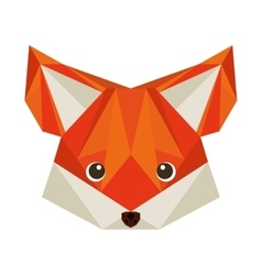 fox head low poly isolated icon vector image