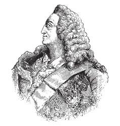 George ii king of england vintage vector