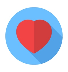 Heart icon flat design icon vector