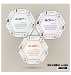 hexagon presentation template vector image vector image