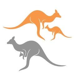 Kangaroo Family vector image vector image