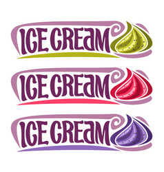 Labels for ice cream vector