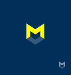 m letter m monogram vector image