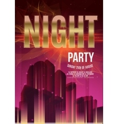 Night Party Purple Flyer Template - EPS10 vector image