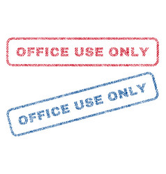 Office use only textile stamps vector
