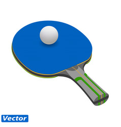 racket for ping pong in vector image