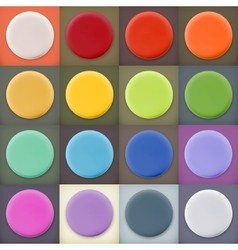 Round empty blanks web icons and buttons vector image