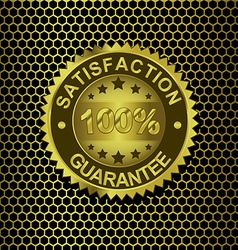 Satisfaction Guarantee on metal background vector image