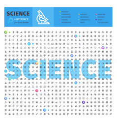 Science thematic collection of line icons vector