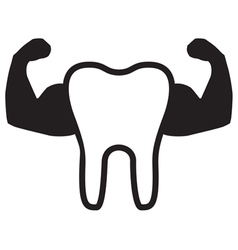 Strong Teeth Icon vector image