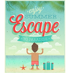 summer escape vector image