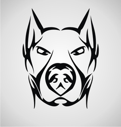 Tribal Dog Face vector image