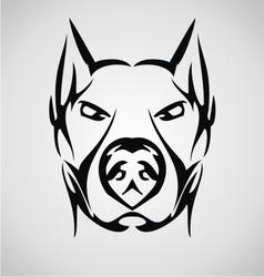 Tribal dog face vector