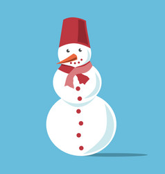 white snowman with carrot vector image vector image