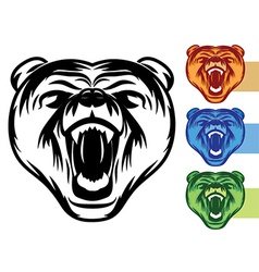Bear mascot icons vector