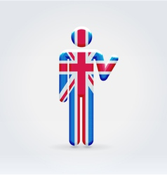 Uk symbolic citizen icon vector