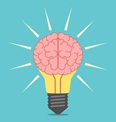 Light bulb with brain vector image