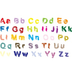 Color alphabet vector