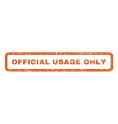 Official usage only rubber stamp vector