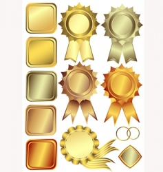 Gold silver and bronze frames vector
