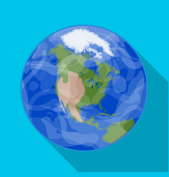 earth icon in flat style isolated on white vector image