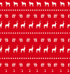Christmas red deer doodle decoration background vector