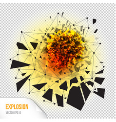 Abstract explosion with sharp debris vector