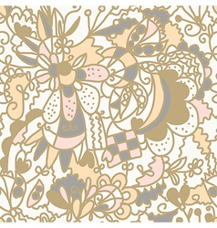 Floral seamless pattern romantic vector image