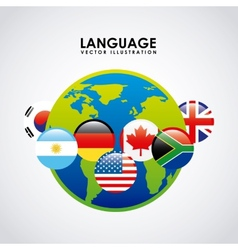 Language poster design vector