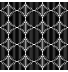 Design seamless monochrome circle lines pattern vector