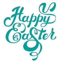 Happy easter calligraphy lettering greeting text vector