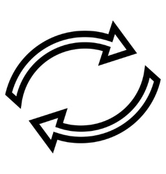 Refresh arrows thin line icon vector