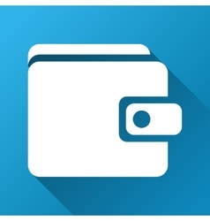 Wallet gradient square icon vector
