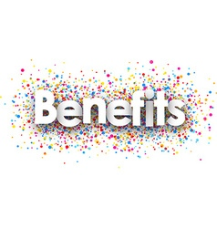 Benefits paper background vector