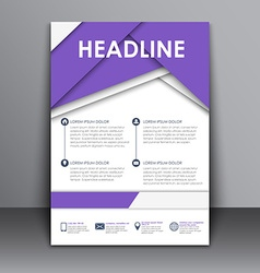 Template flyer with information for advertising vector
