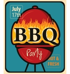 Bbq party with barbecues vector