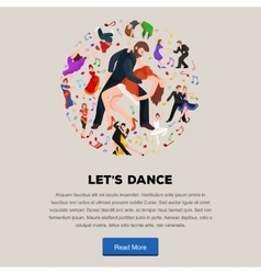 Couple dancing kizomba in bright costumes vector