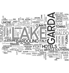 Beautiful lake garda italy text word cloud concept vector