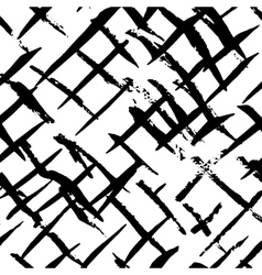 Black and white ink seamless pattern vector image vector image