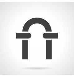 Black arch glyph style icon vector