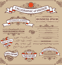 Calligraphic Elements and Page Decoration vector image vector image