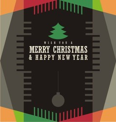 Christmas card design concept vector image