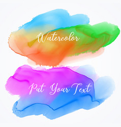 Colorful ink effect stains set vector