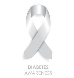 Diabetes awareness ribbon vector
