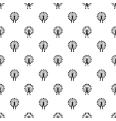 Ferris wheel pattern simple style vector image